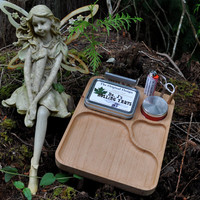 Alder Marijuana, Weed, Tabacco Rolling/Kit: storage tin, papers, scissors, baggie, stickers, stuffer, metal herb crusher