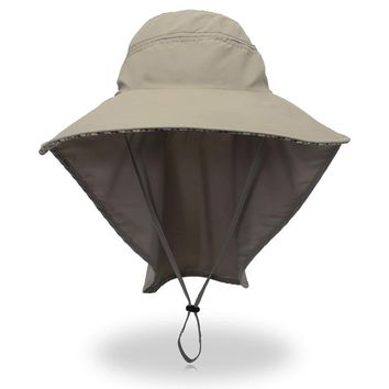 Shawl Big Fisherman Hat Men's Quick-drying Cycle Breathable Outdoor Leisure Fishing Big Hat