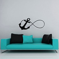 Wall Decal Infinity Sign Anchor Vinyl Sticker Decals Nursery Baby Room Home Decor Nautical Bedroom Art Design Interior NS390