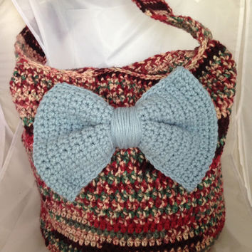 Large Crochet Multi-colored Slouch Hobo Handbag Pattern - Beginner Crochet Bag Pattern - Step by Step Instructions - Immediate Download Now