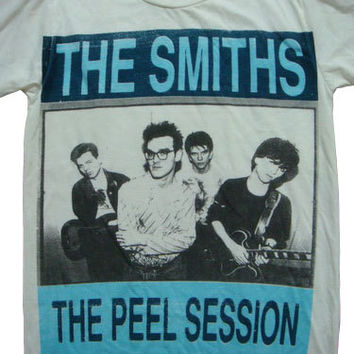 the smiths peel session morrissey t-shirt white unisex size m
