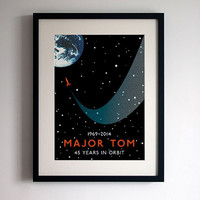 David Bowie 'Space Oddity' Poster Print Major Tom 45th Anniversary Commemorative Poster
