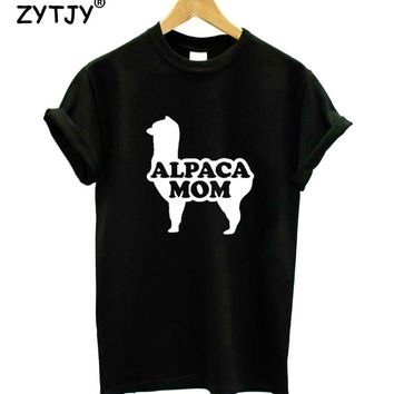 Alpaca Mom Letters Print Women tshirt Casual Cotton Hipster Funny t shirt For Girl Top Tee Tumblr Drop Ship BA-202