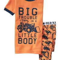 Tractor-Print PJ Sets for Baby