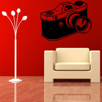Vinyl Wall Decal Sticker Camera with Extended Lens #OS_MB420