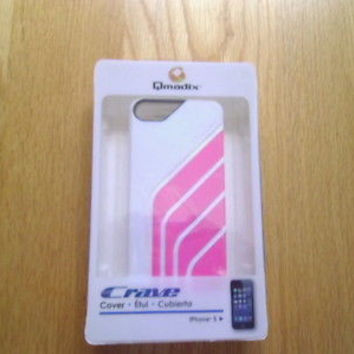 Qmadix Crave Pink/white  Cover for iPhone 5