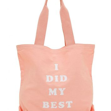 I Did My Best Canvas Tote Bag