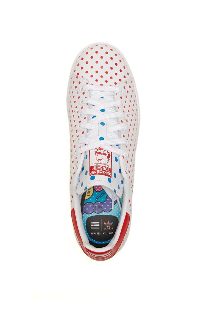 Adidas Pharrell Williams Stan Smith Shoes - Mens Shoes - White Red eb553deb3