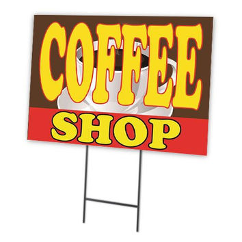 Coffee Shop Full Color Double Sided Sidewalk Signs