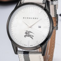 Burberry tide brand men and women models simple fashion wild quartz watch #6