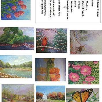 Artistic Landscapes Coloring Book - 10 Real Paintings for the Adult