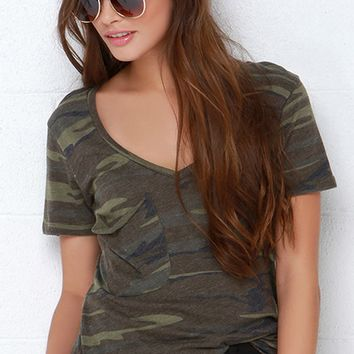 Causal Camouflage T-Shirt