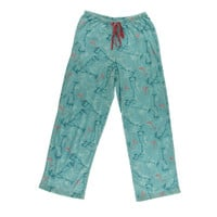 Hue Womens Fleece Cocktail Print Pajama Bottoms