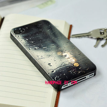 Rain out of the window coloured drawing iphone 5 case iphone 4 case iphone 4s case iphone 5 case