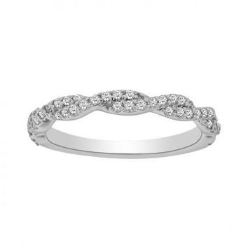 1/4ct tw Diamond Weddig Ring in 14K White Gold - Anniversary - Diamond Rings - Jewelry & Gifts