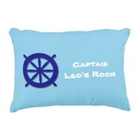 Custom Children's Bedroom Blue Nautical Decorative Pillow