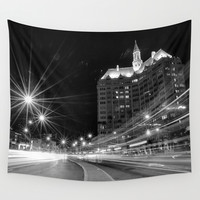 Ocean Blvd Traffic Villa Riviera II Wall Tapestry by RichCaspian