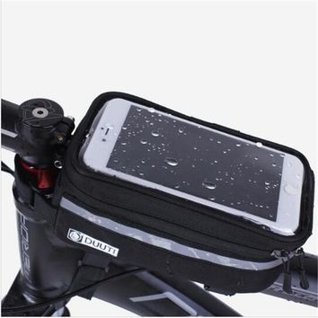 Waterproof/Reflective 3.5''-5.7'' panniers Frame Front Tube Cycling Bicycle Bag MTB Bike TPU Touch Screen phone cases bike