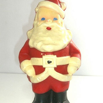 Vintage Santa Claus Candle - Suni Candle  9 Inches Tall