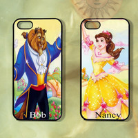 Custom Beauty and the Beast Couple Case-iPhone 5, iphone 4s, iphone 4 case, Samsung GS3-Silicone Rubber or Hard Plastic Case, Phone cover