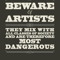 Beware of Artists Art Print by Tracie Andrews   Society6