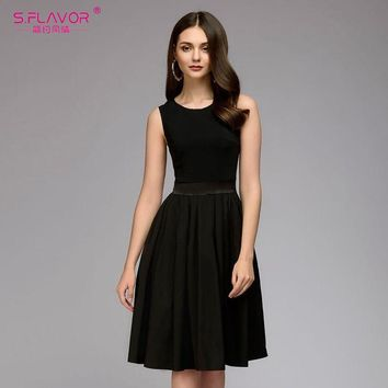 A Line Dress for Spring or Summer - Fashion Sleeveless Dress