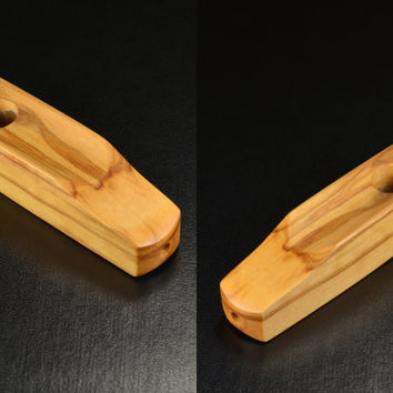 Ember Out Pipes • Olivewood • Half Inch Bowl • Designed To Hold Lighter • See Images - Don't Forget Screens