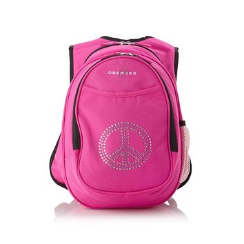 Obersee Kids Pre-School All-In-One Backpack With Cooler - Peace