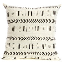 A Queen's Cloth Triplet Design Pillow from Mali