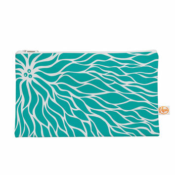 "Nl Designs ""Swirls Tiffany"" Teal White Everything Bag"