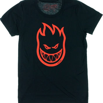 Spitfire Bighead Girls T-Shirt Large Black/Red