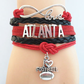 Infinity Love NFL Atlanta Falcons Team Bracelet ML1012