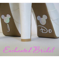 Disney Inspired I Do Shoe Stickers You Pick Color Sparkly Wedding Shoe Decals