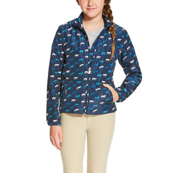 Ariat Girl's Laurel Jacket - Navy Horse Print