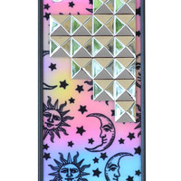 Sun & Moon Silver Studded iPhone 5/5s Case