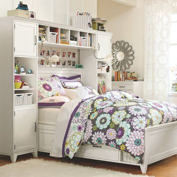 Hampton Storage Bed + Bookcase Tower Set
