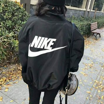 """NIKE"" Women Fashion Long Sleeve Cardigan Bread Down Coat Cotton-padded Clothes Jacket G-WMGCD"
