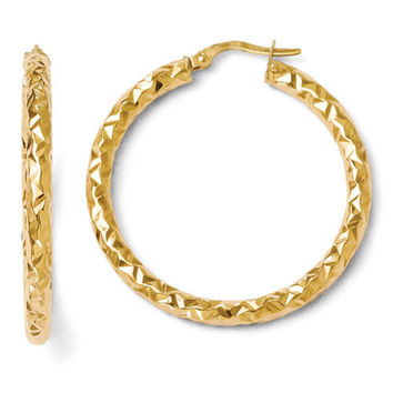 14k Yellow Gold Forever Lite Hoop Earrings