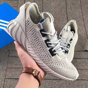Adidas Tubular Doom Sock PK Yeezy Fashion Women Men Casual Breathable Running Sport Shoes Sneakers Grey I-AA-SDDSL-KHZHXMKH