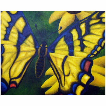 Transform and Be Free - Canvas Mini of Acrylic Paint Butterfly Fine Art
