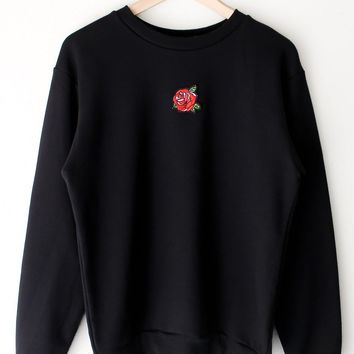 Rose Sweatshirt - Black