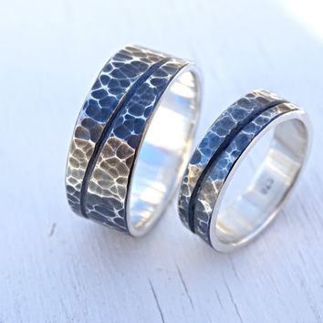 best engraved silver wedding bands products on wanelo