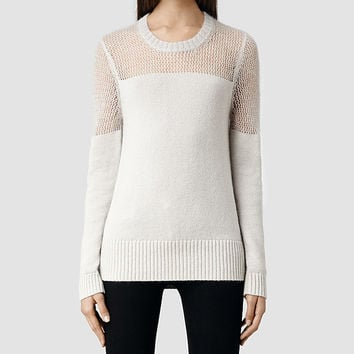 Womens Air Jumper (Porcelain) | ALLSAINTS.com