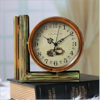 Double Sided Iron Vintage Living Room Quartz Clock [6282700614]