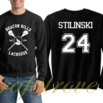 Stiles Stilinski Sweatshirt Beacon Hills Teen Wolf 24 Number Unisex Sweatshirts - RT102