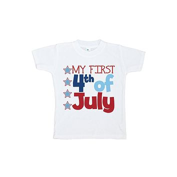 Custom Party Shop Kid's First 4th of July T-shirt