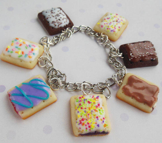 Polymer Clay Pop Tart Charm Bracelet From ScrumptiousDoodle On