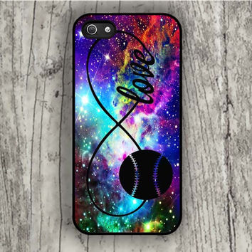 Dream colorful Infinity Love Softball Sports iPhone 5/5S Case