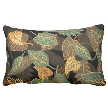 Modern floral pattern Lumbar Pillow