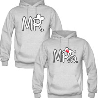 mr and mrs Love couple Hoodie